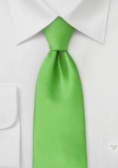 Mikrofaser-Herrenkrawatte schlank einfarbig grün