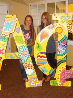I wanna make these for Kappa Rho! Alpha Phi Letters, Alpha Delta Kappa, Sorority Letters, Phi Sigma Sigma, Pi Beta Phi, Sorority Crafts, Phi Mu, Sorority Life, Cute Letters