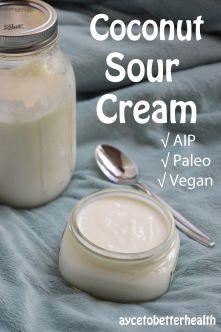 Vegan Paleo AIP coconut sour cream