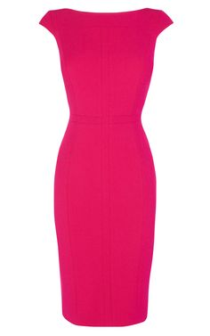 Karen Millen is a London-based fashion house specialising in women's fashion. Pink Work Dresses, Pink Dress Casual, Tight Dresses, Casual Dresses, Casual Outfits, Corporate Chic, Karen Millen, Pencil Dress, Looks Great