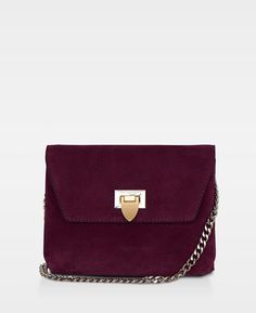 Cleva small pouch Suede oxblood