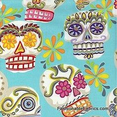sugar skull fabric from amazon