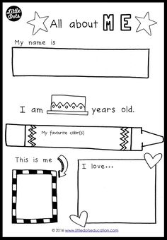 All About Me Free Printable Pack | Totschooling Blog - Printables ...