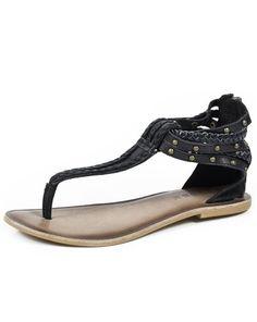 f612e338ee80 Roper Western Shoes Womens Braided Thong Sandal 09-021-0607-1153 BL