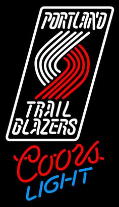 Coors Light Neon Portland Trail Blazers NBA Neon Sign