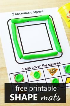 Free Printable No Prep Shape Play Dough Mats - Fantastic Fun & Learning