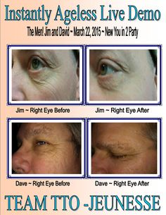 Our neighbor Jim and my husband David! Works great on men!! Instantly Ageless is a breakthrough product and WOW, I am loving it and making great money as I change lives two minutes at a time! Watch my 2 minute video: www.doyouknowsomeonewithaface.com