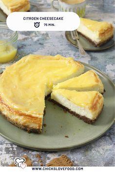 Citroen Cake, Vegan Cheesecake, Sweet Pie, Diy Food, Queso, Just Desserts, Kids Meals, Sweet Tooth, Yummy Food