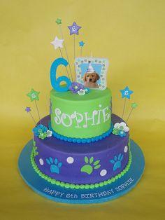 Puppy Themed Birthday Cake by CakesUniqueByAmy.com, via Flickr