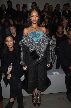 Rihanna at the adidas Originals x Kanye West YEEZY SEASON 1 - Front Row & Backstage