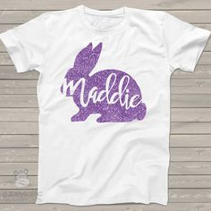Easter girls personalized shirt  Easter bunny by zoeysattic