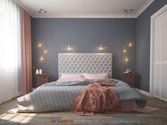 Bedroom interior. Copper lamp. Индивидуальный дизайн интерьера квартиры в Харькове. Красивый и уютный дизайн интерьер спальни, дизайн интерьера кухни, гостиной, детской и ванной.