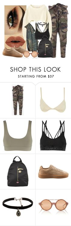 """""""BackPack style"""" by mrs-brown-carter ❤ liked on Polyvore featuring Faith Connexion, Jagger, Calvin Klein Underwear, Lulu Guinness, Puma, Natalie B and Linda Farrow"""