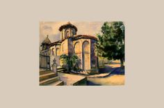 """The old church of Smederevo"" by Svetislav Strala"