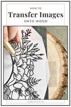 Wood Burning Tips, Wood Burning Techniques, Wood Burning Crafts, Wood Burning Patterns, Wood Transfer, Transfer Paper, Natural Wood Crafts, Wooden Christmas Ornaments, Christmas Crafts