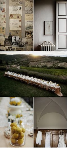 love the idea of the long table.. and with Lemons in jars as the decor...