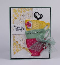 Stampin Up A Nice Cuppa card by Kristi @ www.stampingwithkristi.com