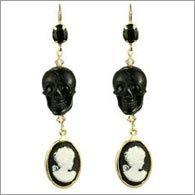 Diamond Skull Earrings