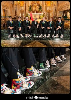 groom present to the guys was DC comics Chuck Taylor's #groomsmengifts #groomsmen #chucks