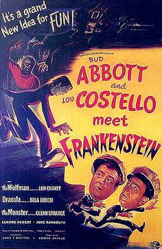 Abbott and Costello Meet Frankenstein (1948) Two hapless freight handlers find themselves encountering Dracula, the Frankenstein Monster, and the Wolf Man.