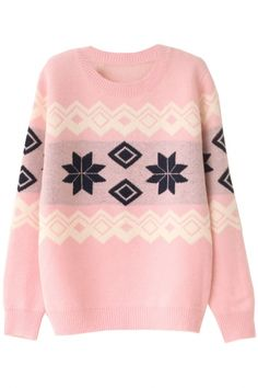 Christmas-Inspiration Geo Patterned Sweater