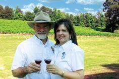 Jeff & Libby Landry, owners of Landry Vineyards in West Monroe. #wine #vineyard