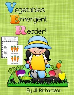 "This emergent reader is a great addition to your class library!  Print one in color and the student's books in black and white.Take a PREVIEW PEEK!Perfect to teach your ELLS vegetable names.It follows the pattern:""I can eat _________.""Included17  page book in both color and b and wh.Alphabetical order printable (2 versions for differentiation)Writing activity:  My favorite vegetable is: (3 versions for differentiation)Have fun reading with your children!CLICK the GREEN STAR by my picture to…"