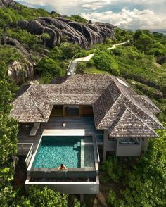 """ARCHDOSE on Instagram: """"#archdose Rate this tropical residence 🌴 Tag someone you'd go there with! Six Senses Zil Pasyon 📍 #Seychelles 🇸🇨 📸@travelsofali 🤝…"""" Beautiful Places In The World, Beautiful Homes, Wonderful Places, Beautiful Beaches, Hotels And Resorts, Best Hotels, Seychelles Islands, Cabin In The Woods, Hotel Pool"""