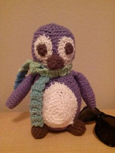 Crocheted Stuffed Penguin Purple with by TheJoyfulKnitter on Etsy, $27.00