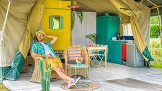 4-persoons Safaritent op leuke gezinscamping met veel faciliteiten    #glamping #glampinglife #safaritent #vakantie #veluwe Puerto Vallarta, Glamping, Lily Pulitzer, Go Glamping