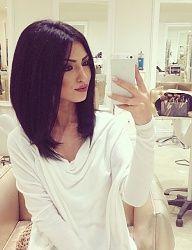 brunette straight long bob INSTAGRAM: missy.diana.xo PINTEREST: itsmissydiana