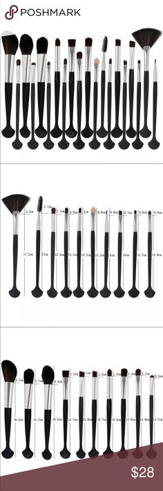 """🤪SALE🤪20 pc shell makeup brushes Just in ! 20 piece makeup brush set in a magnificent shell design . Full size brushes measure approx 6-7"""" and have a brush for every angle of your face and neck . From eyes to cheeks you will have a perfect application every time . Synthetic bristles are soft,  yet densely packed . No loose hairs left on your face !  Other colors available . See other listings - brand new in original packaging . Makeup Brushes & Tools"""