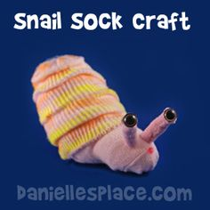 Snail Sock Craft for Kids from www.daniellesplace.com
