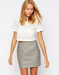 Glamorous Top in Punched PU