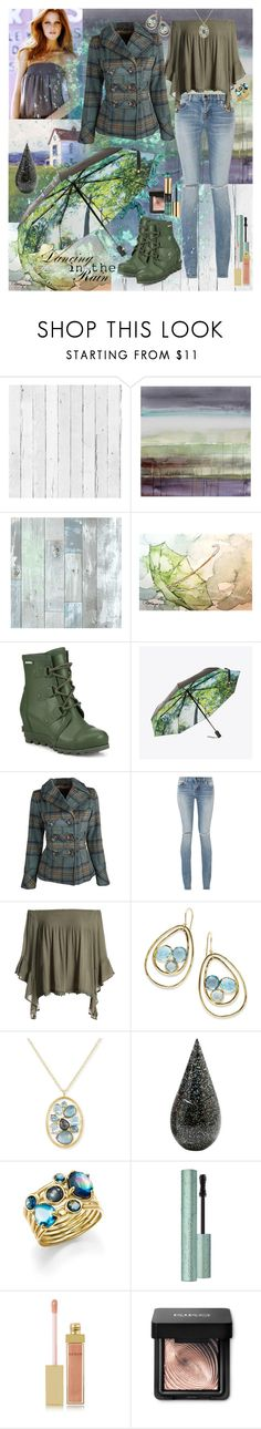 """""""Dancing in the rain"""" by julyralewis ❤ liked on Polyvore featuring NLXL, Wall Pops!, SOREL, HAPPYSWEEDS, Dollhouse, Yves Saint Laurent, Sans Souci, Ippolita, La Prairie and AERIN"""