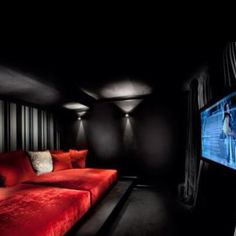 Movie theater room. I love movie nights, and something like this would HAVE to have a popcorn maker in it!!