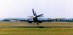 Really low flying Spitfire