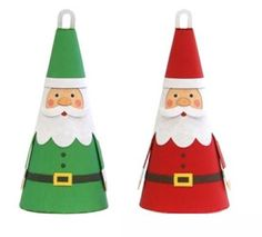 This cute Santa Claus Christmas ornament can be used to decorate your Christmas tree or a decoration for your room. Enjoy them on their own or combine them with other ornaments to add colour to your Christmas. Christmas Paper Crafts, Diy Christmas Ornaments, Homemade Christmas, Christmas Projects, Christmas Tree Decorations, Santa Decorations, Ornaments Ideas, Santa Ornaments, Santa Claus Christmas Tree