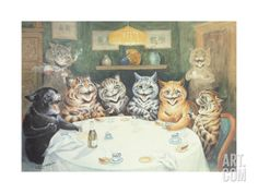 The after Dinner Speaker Giclee Print by Louis Wain at Art.com