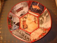 From the Craftster Community: Recycled Holiday Card Bowl - OCCASIONS AND HOLIDAYS