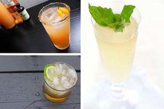 Citrus flavored cocktails for a wedding brunch.