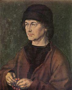 Portrait Albrecht Dürer the Elder, 1490  - Albrecht Durer