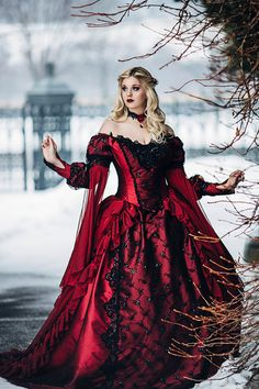 Gothic Sleeping Beauty Princess Medieval Fantasy Gown Custom Color and Size