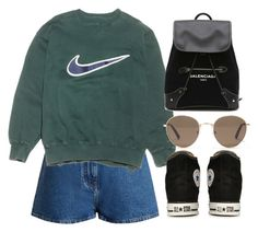 """""""Sin título #2218"""" by alx97 ❤ liked on Polyvore featuring Valentino, NIKE, Converse, Balenciaga and Madewell"""