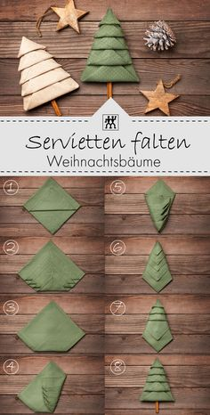 Fold Napkins for Christmas # Napkin Folds Napkins Fold for Christmas . Fold napkins for Christmas napkins Napkins fold for Christmas. Just fold the cute napkin C Christmas Tree Napkin Fold, Christmas Napkins, Christmas Time, Christmas Crafts, Holiday, Christmas Fashion, Christmas Ideas, Xmas, Christmas Table Settings