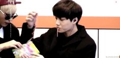 Tao and Kai sharing some nums.