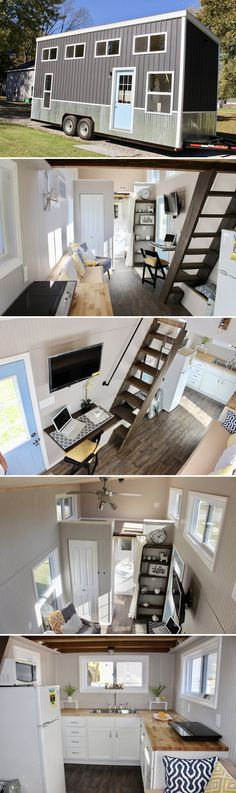 Relax Shack is a 24′ tiny house built by Mark and Emily Mitchel, owners of Mini Mansions based in St Peters, Missouri.