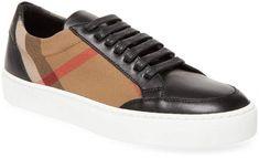 75e567d7e Burberry Women s Plaid Leather Sneakers  ad  burberry  sneakers Burberry  Plaid