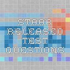 STAAR Released Test Questions