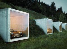 """3,254 Likes, 35 Comments - G Ξ N T L Ξ M Λ N M O D Ξ R N™ (@gentlemanmodern) on Instagram: """"Peter Kunz's garage in Herden, Switzerland is formed from a series of wonderfully sculptural…"""""""